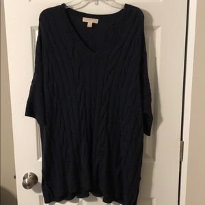 Navy blue knitted oversized sweater